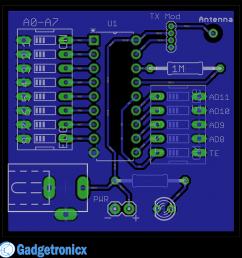 rf remote tx pcb design [ 1000 x 989 Pixel ]