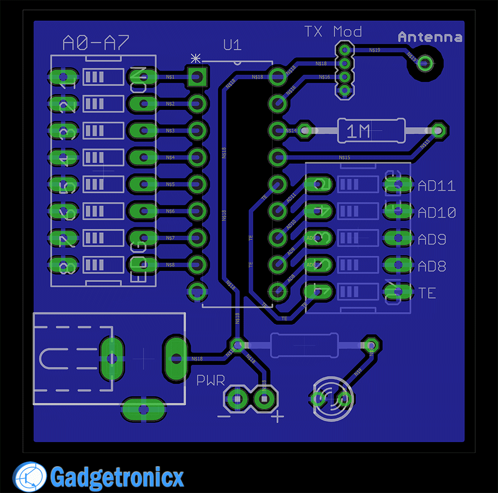 medium resolution of rf remote tx pcb design