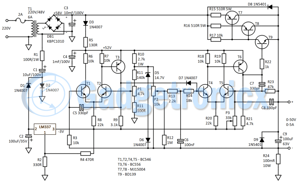 medium resolution of circuit diagram of bench power supply