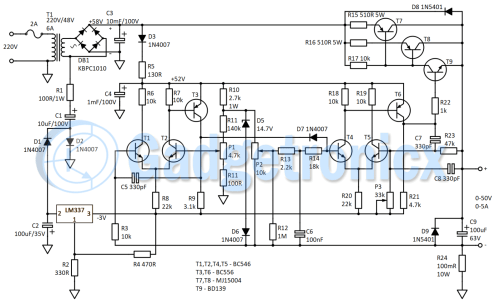 small resolution of circuit diagram of bench power supply