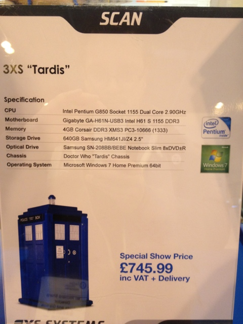 dr who pc case price