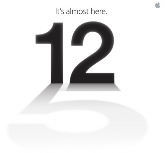 iPhone 5 release on 12th september 2012