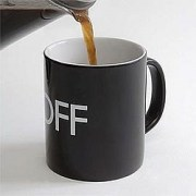 Why Are THey Pouring Cold Coffee Into The On/Off Mug?