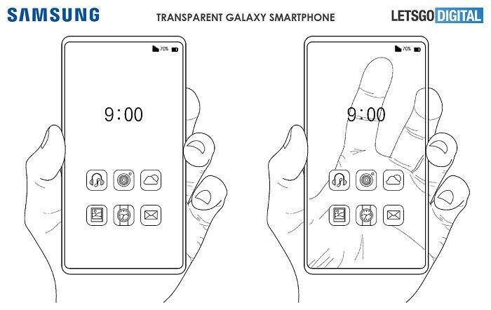 Samsung's transparent smartphone patent shows new design