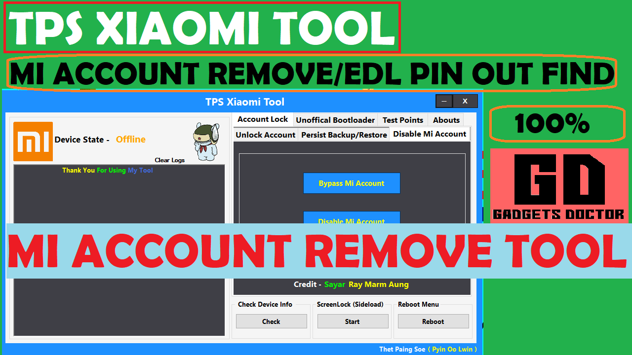 Mi Account Remove Tool | TPS Xiaomi Tool