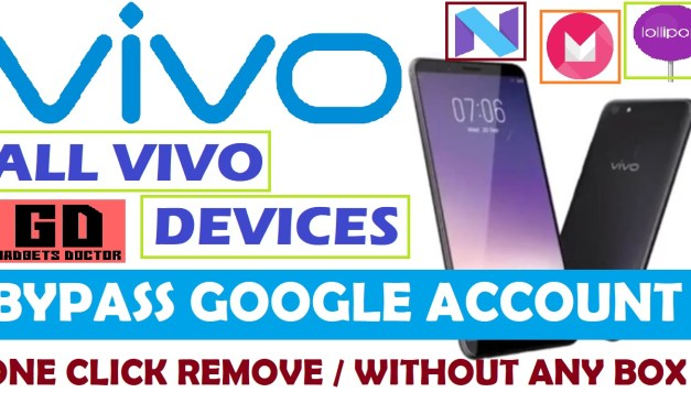 VIVO All Mobiles FRP Google Account Remove (One Click) – Without Box