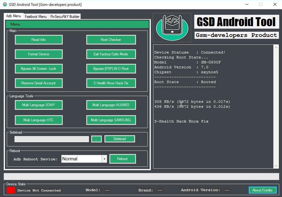 GSD Android Tool – Clear Pattern/Pin/Password Without Data loss