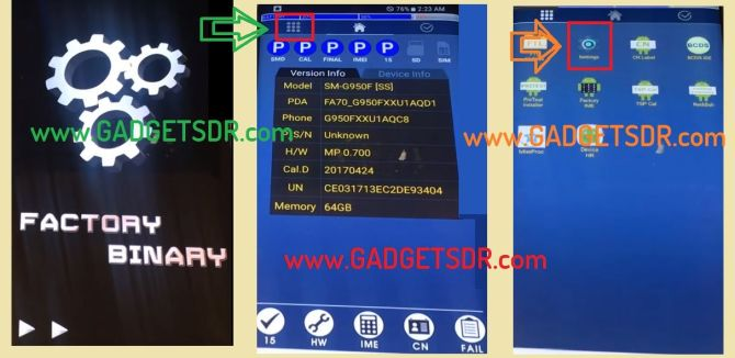 Bypass FRP Samsung Galaxy S8 Plus (SM-G955)