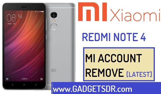 Remove Mi Account Xiaomi Redmi Note 4 Mtk
