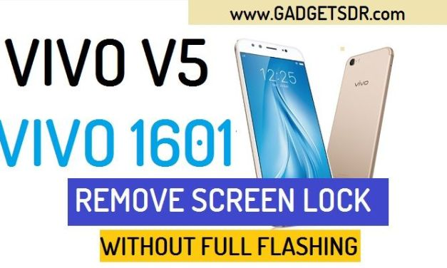 How to Remove Pattern Lock Vivo V5 (Vivo 1601)-Password, Pin Remove By SP Flash Tool