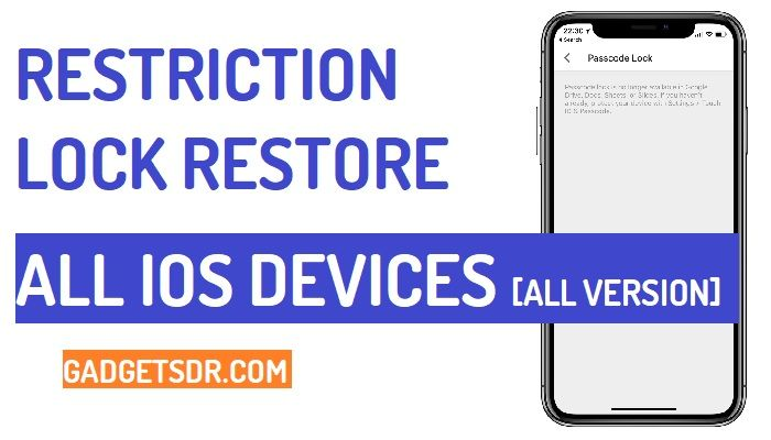 How to Restore Restriction Passcode on IOS devices