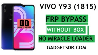 Vivo Y93 FRP Bypass With FRP File and Tool (unlock vivo 1814)