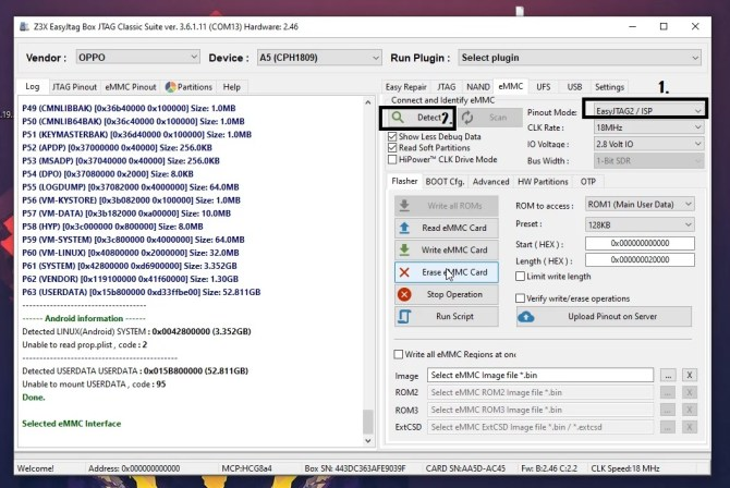 Z3x Easy Jtag Plus latest Setup EMMC Tool
