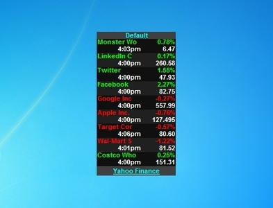 stock gadget free desktop