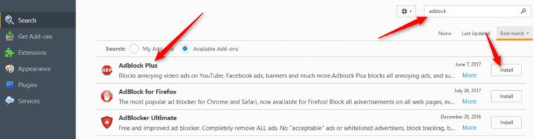 Mozilla Firefox Adblock