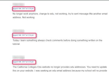 Edu Email Address