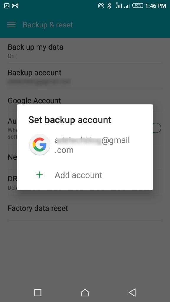 Google phone contacts backup