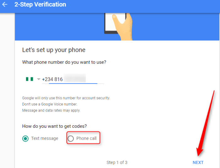Gmail Two-step verification