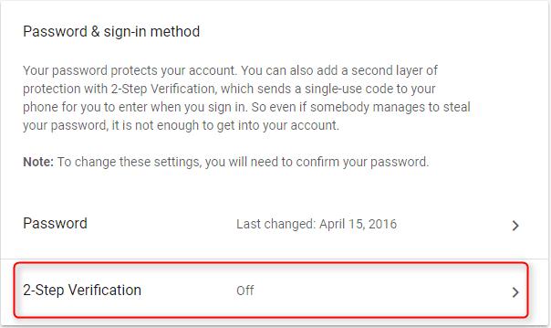 How to Setup Gmail two-step Verification