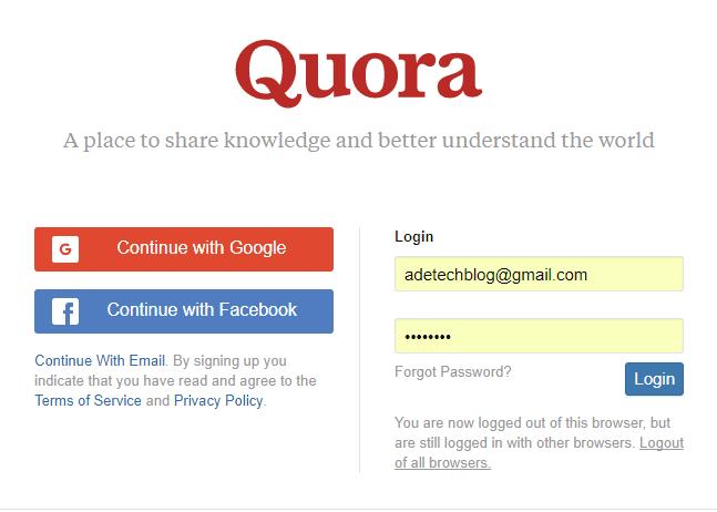 Download Quora App