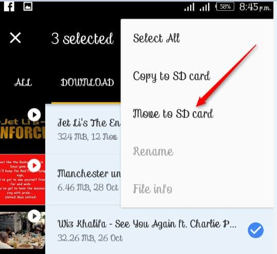 Move Files to SD from Phone Using Google File Go