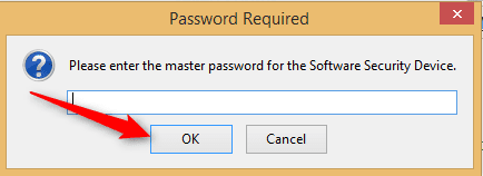 Saved passwords on Firefox