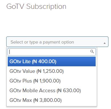 Pay GoTv Subscription