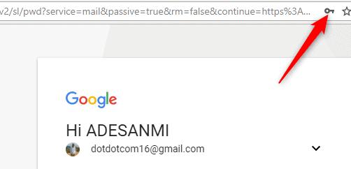 Store passwords on Chrome