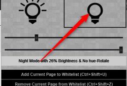 Chrome night mode