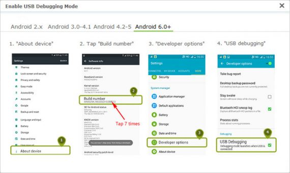 How to Enable Debugging Mode on Android 6 & Android 7