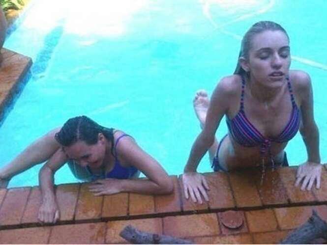 Fotos demonstrando que existem dois tipos de garotas no mundo