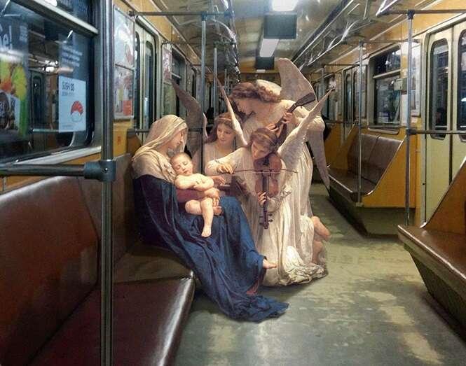 Ucraniano coloca figuras de pinturas clássicas no nosso dia a dia