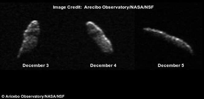 Gigantesco asteroide passará pela Terra na véspera de Natal