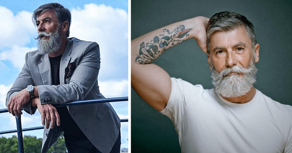 Homem de 60 anos se torna modelo após deixar a barba crescer