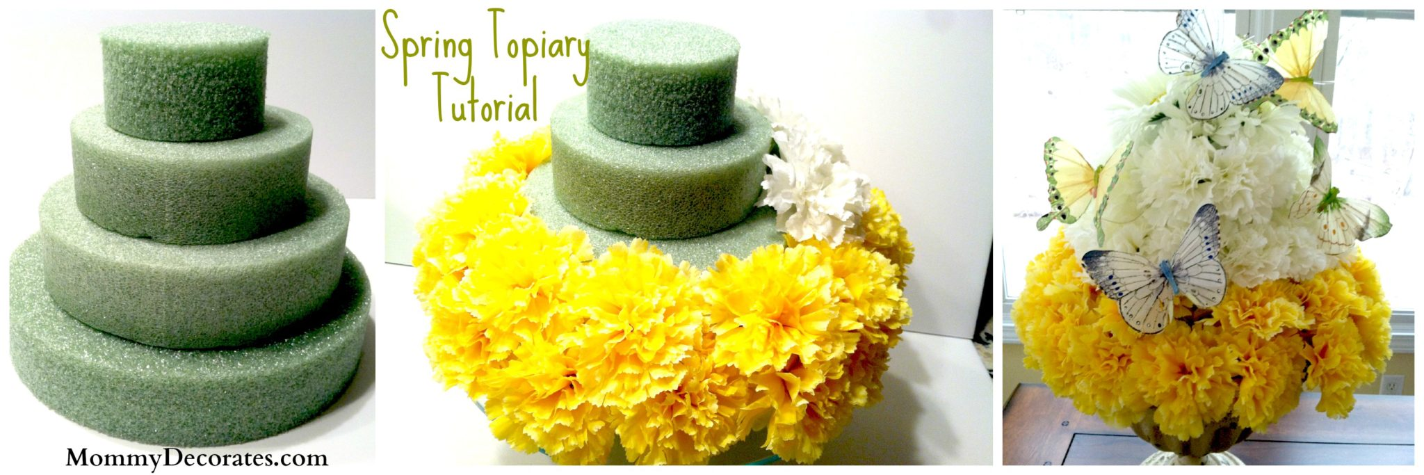 Spring Topiary – How to make one 3 Pictures