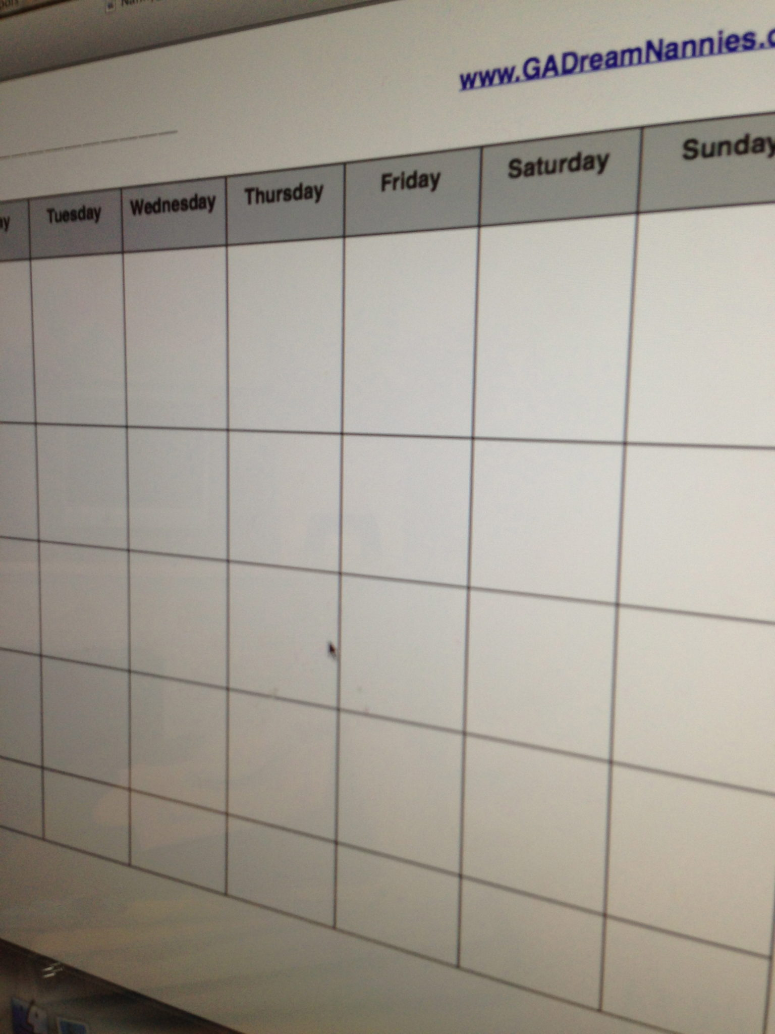 Free nanny weekly meal plan template for The nanny house layout