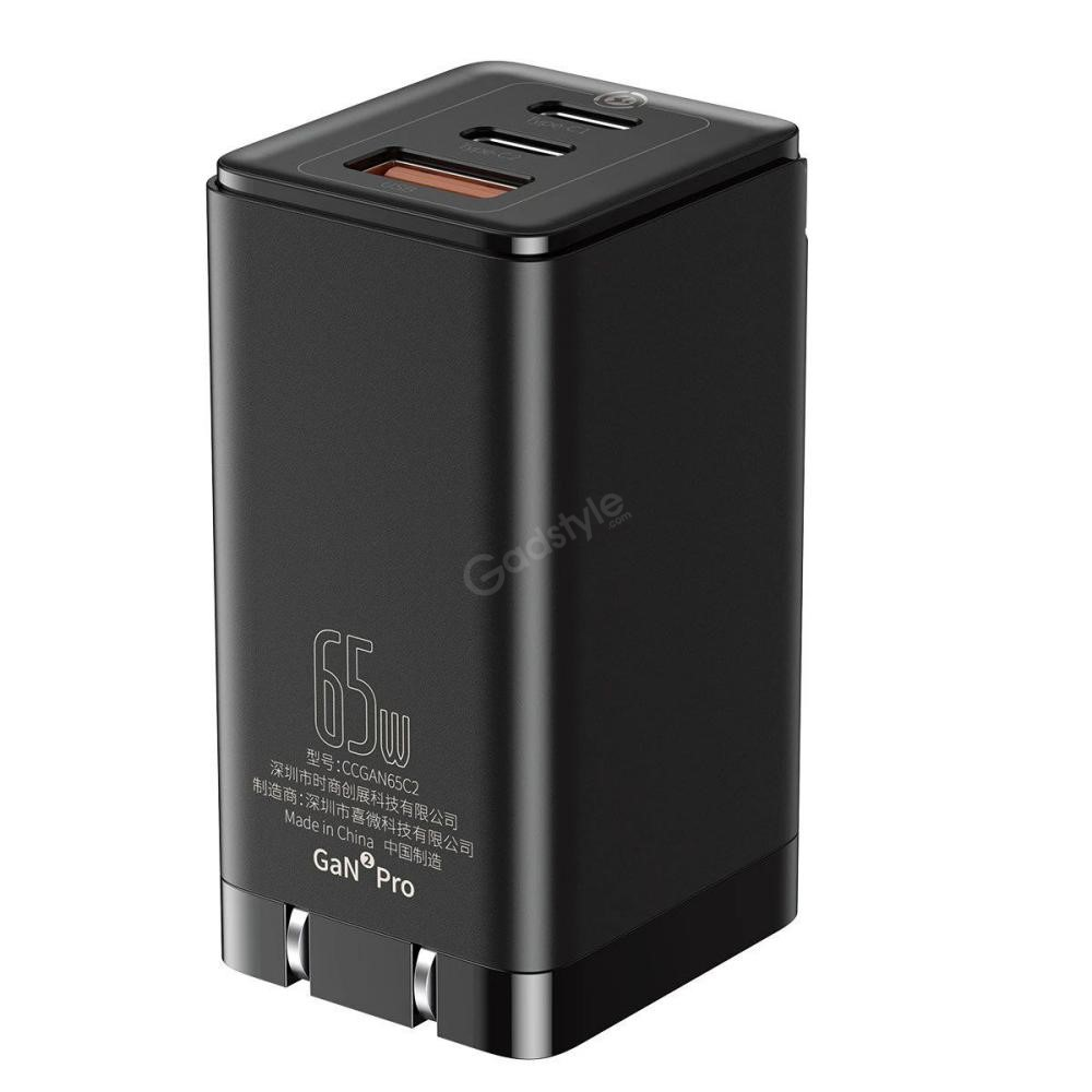 baseus 65w gan2 pro type c pd wall charger 5