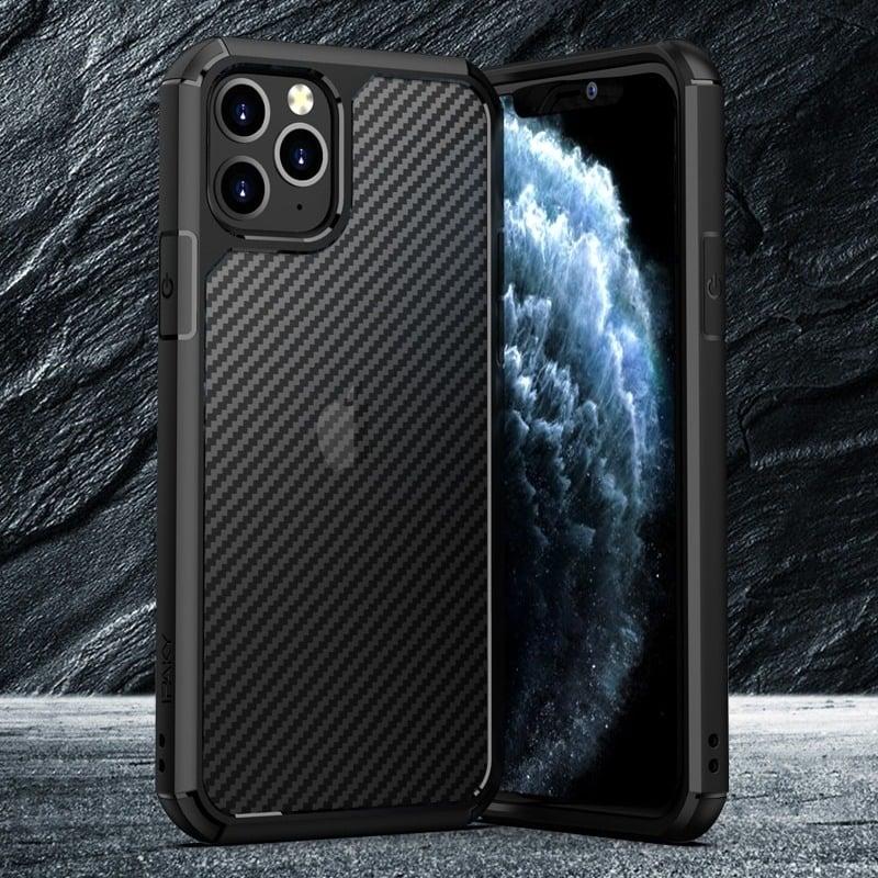 Carbon Fiber Textures Shockproof Bumper Case For Iphone 12 Iphone 11 11 Pro 11 Pro Max (2)