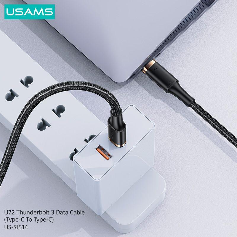 Usams Us Sj514 U72 Thunderbolt 3 Data Cable Type C To Type C (2)