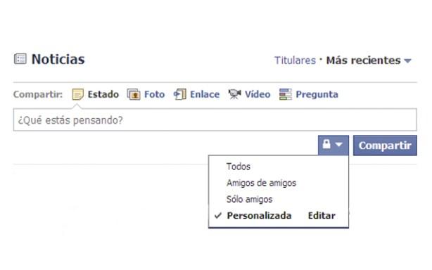 Privacidad en Facebook-amigos