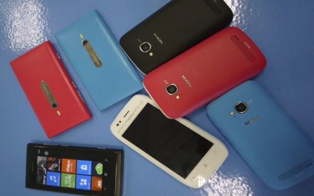 Smartphones Nokia Lumia con Windows Phone