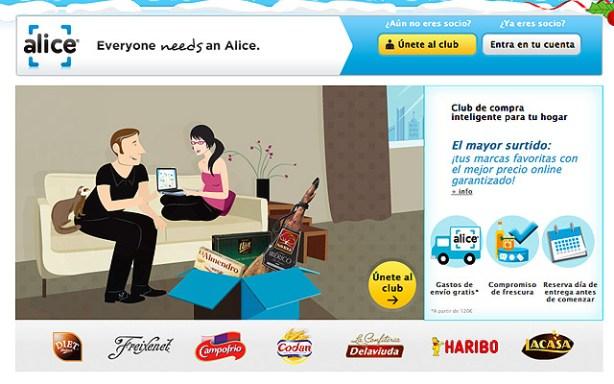 Web Alice.es supermercado