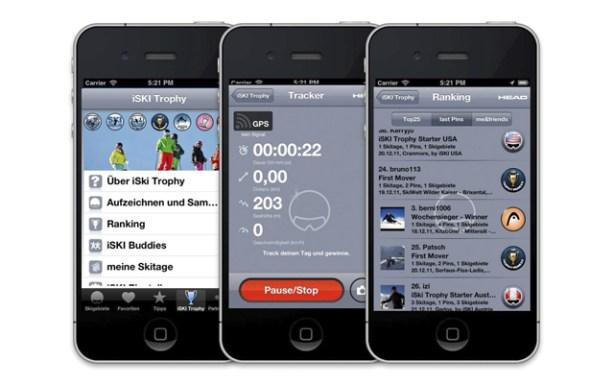 La app iSKI Trophy permite participar en un ranking