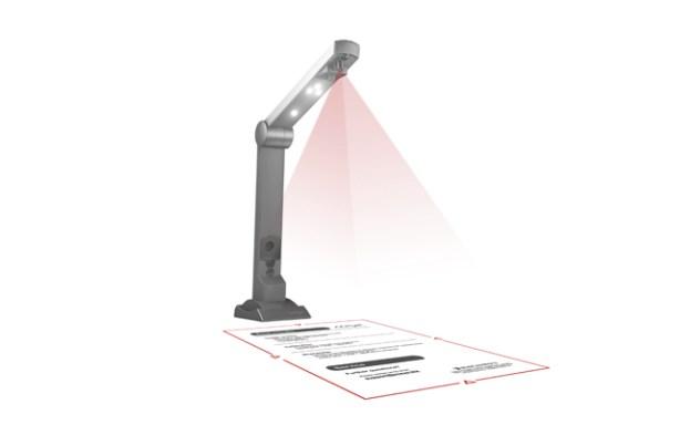 El laser determina la zona de escaneo