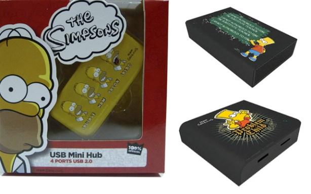 Accesorios informáticos de los Simpsons