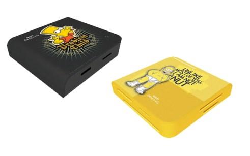 Lector de tarjetas de los Simpsons