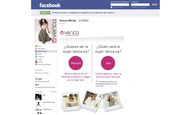 Facebook del concurso Mujer Venca