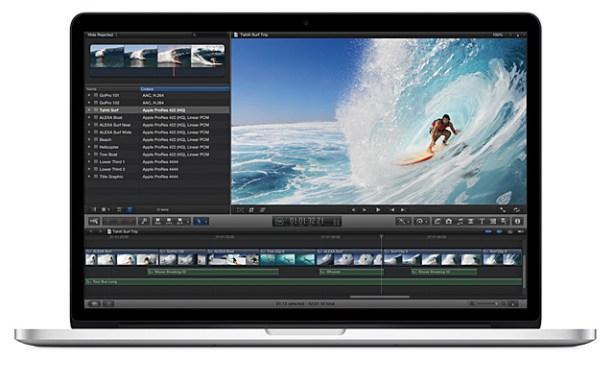 Macbook Pro pantalla retina edición vídeo