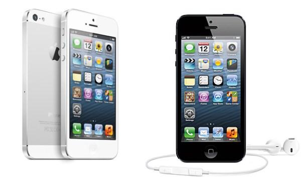 iPhone 5 negro blanco
