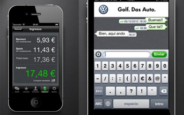 La app Chad2Win te permite ganar dinero a cambio de recibir publicidadmientras chateas.